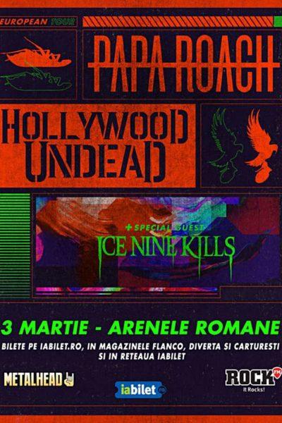 Poster eveniment Papa Roach și Hollywood Undead
