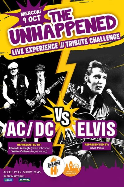 Poster eveniment The Unhappened: AC/DC vs. Elvis