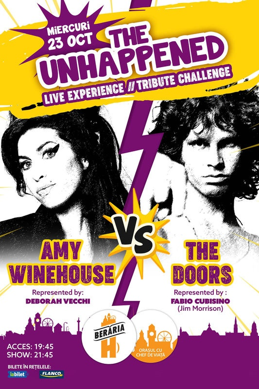 The Unhappened: Amy Winehouse vs. The Doors la Berăria H