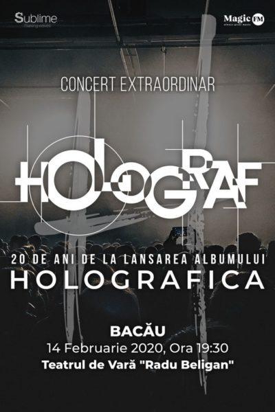 """Poster eveniment Turneu Holograf - 20 de ani de la lansarea albumului \""""Holografica\"""""""