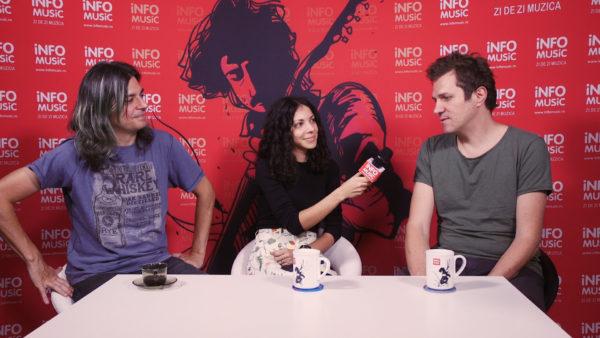 Sergiu Mitrofan, Raluca Chirilă și Dan Byron în redacția InfoMusic