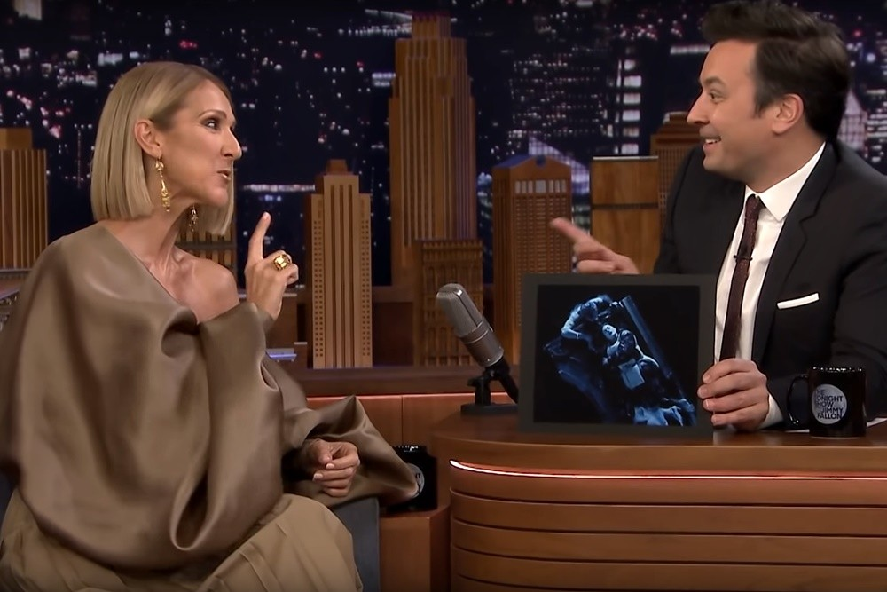 Celine Dion la Jimmy Fallon, noiembrie 2019 (Screenshot)