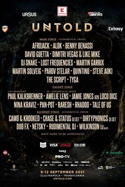 Poster eveniment UNTOLD Festival 2021