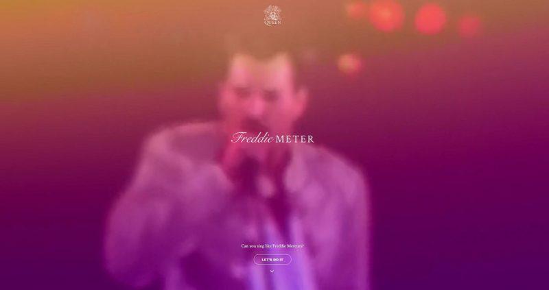 Freddie Meter aplicatie test voce Freddie Mercury