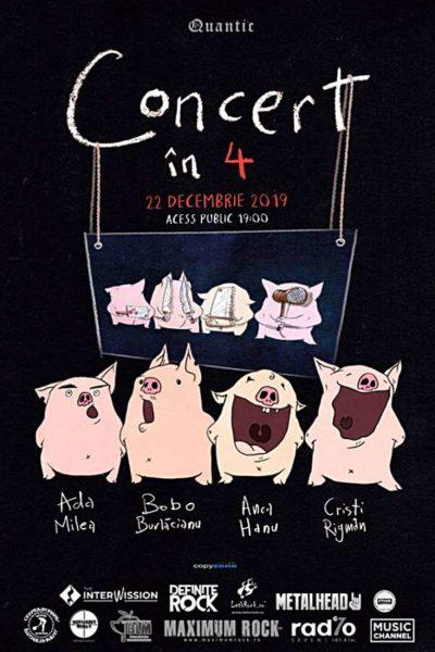 Poster eveniment Concert în 4 - Ada Milea, Bobo Burlăcianu, Anca Hanu, Cristi Rigman