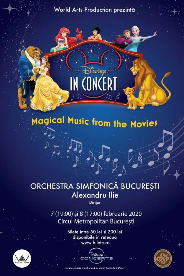 Disney In Concert - Magical Music From The Movies la Circul Metropolitan București (Globus)