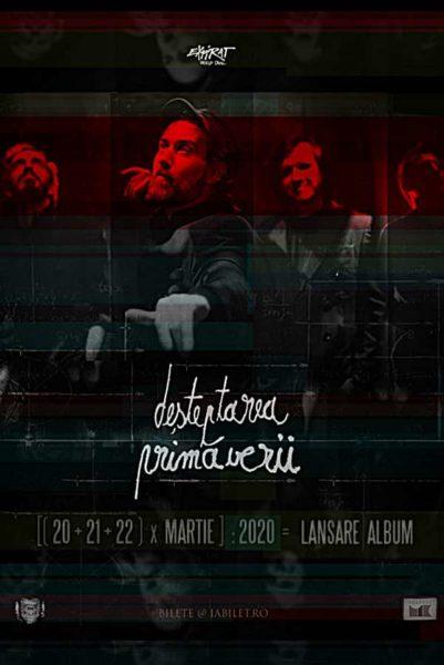 """Poster eveniment FiRMA - lansare album \""""Deșteptarea Primăverii\"""" - ANULAT"""