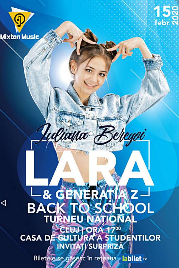 Iuliana Beregoi - Lara & Generația Z Back to School la Casa de Cultură a Studenților din Cluj-Napoca