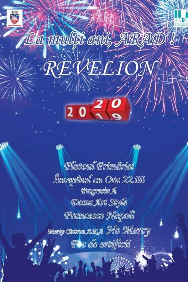 Revelion 2020 Arad la Platoul Palatului Administrativ Arad