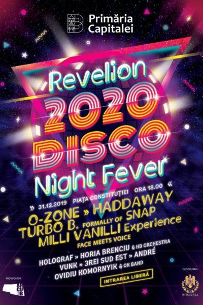 Poster eveniment Revelion 2020. Disco Night Fever