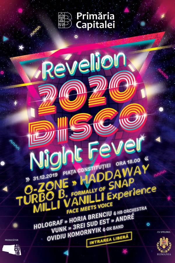 Revelion 2020. Disco Night Fever la Piața Constituției
