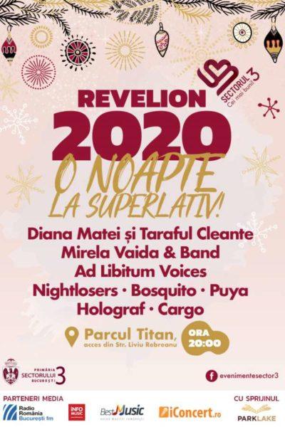 Poster eveniment Revelion 2020 în Parcul Titan