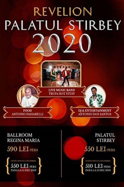 Poster eveniment Revelion 2020 la Palatul Stirbey