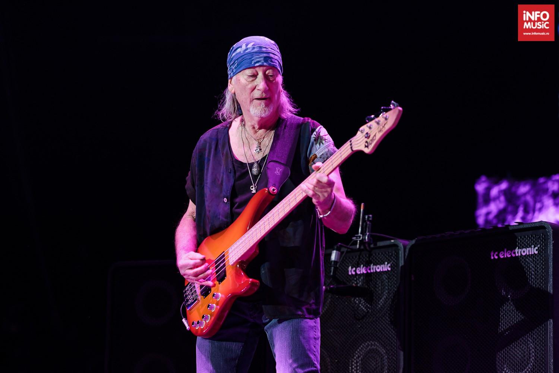 Roger Glover, basistul Deep Purple în concert la Cluj-Napoca pe 10 decembrie 2019