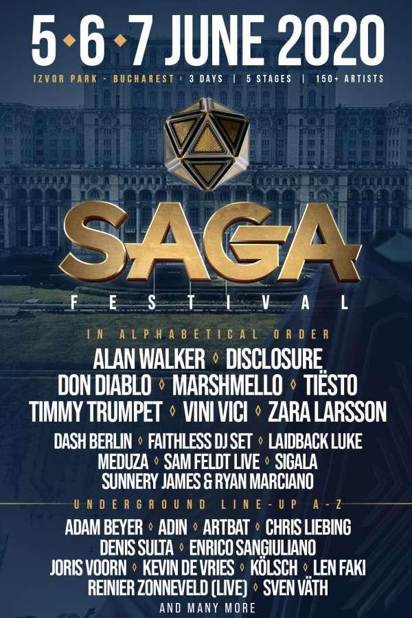 SAGA Festival 2020 la Parcul Izvor