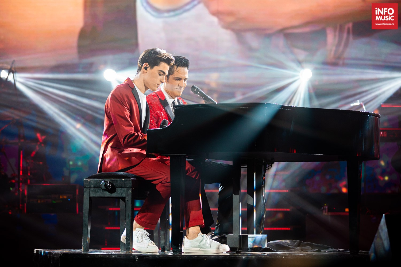 Ștefan Bănică și fiul său, Radu Ștefan Bănică, în concertul de Crăciun din 15 decembrie 2019