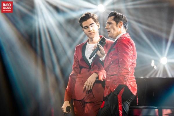Ștefan Bănică și fiul său Radu Ștefan Bănică în concertul de Crăciun din 15 decembrie 2019