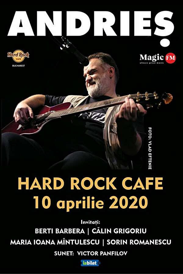 Alexandru Andrieș la Hard Rock Cafe