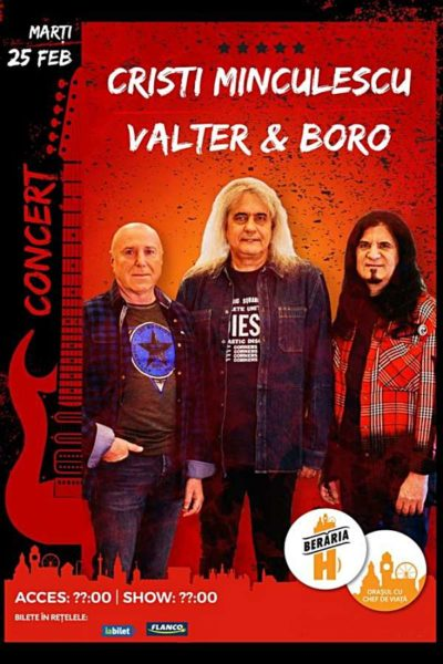 Poster eveniment Cristi Minculescu, Valter și Boro