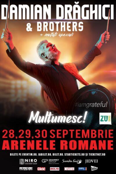 Poster eveniment Damian Drăghici & Brothers - Mulțumesc!