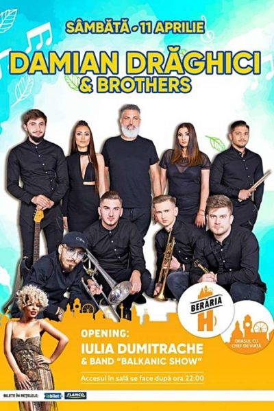 Poster eveniment Damian Drăghici & Brothers