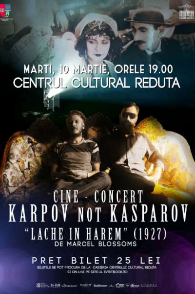 Cine-Concert Karpov Not Kasparov la Centrul Cultural Reduta