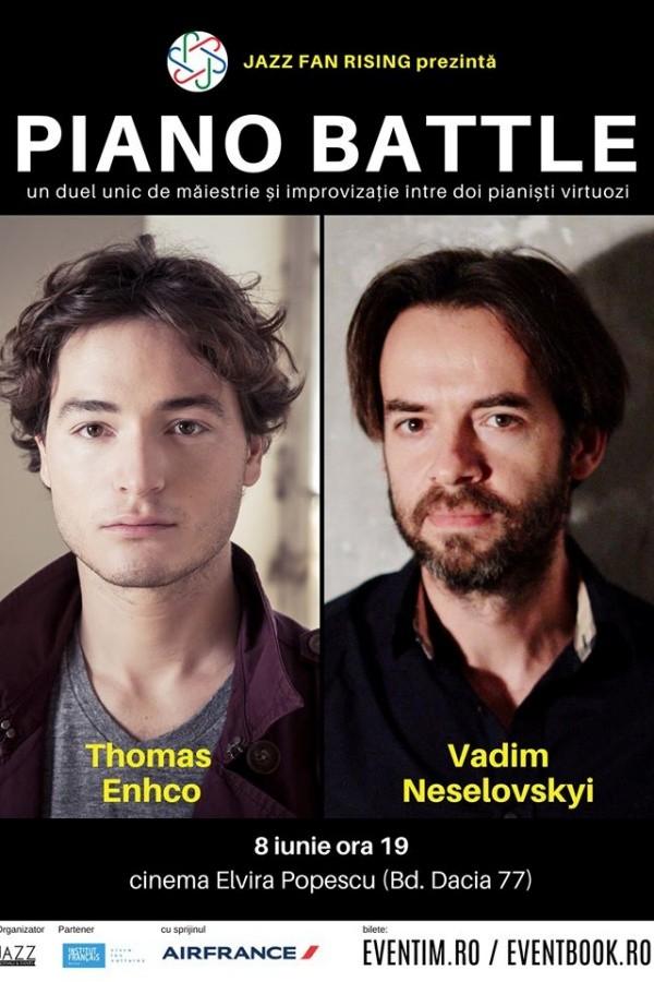 Piano Battle: Thomas Enhco vs. Vadim Neselovskyi la Cinema Elvire Popesco