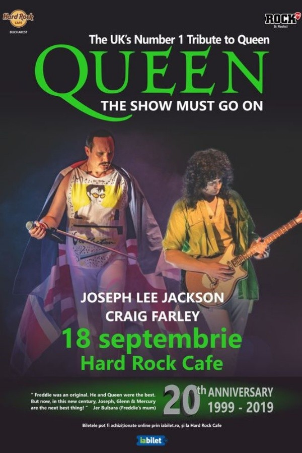Tribut Queen - The Show Must Go On la Hard Rock Cafe