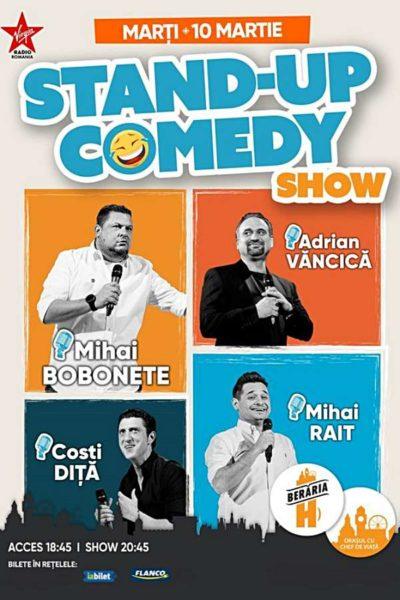 Poster eveniment Stand-Up Comedy: Mihai Bobonete, Adrian Văncică, Costi Diță, Mihai Rait
