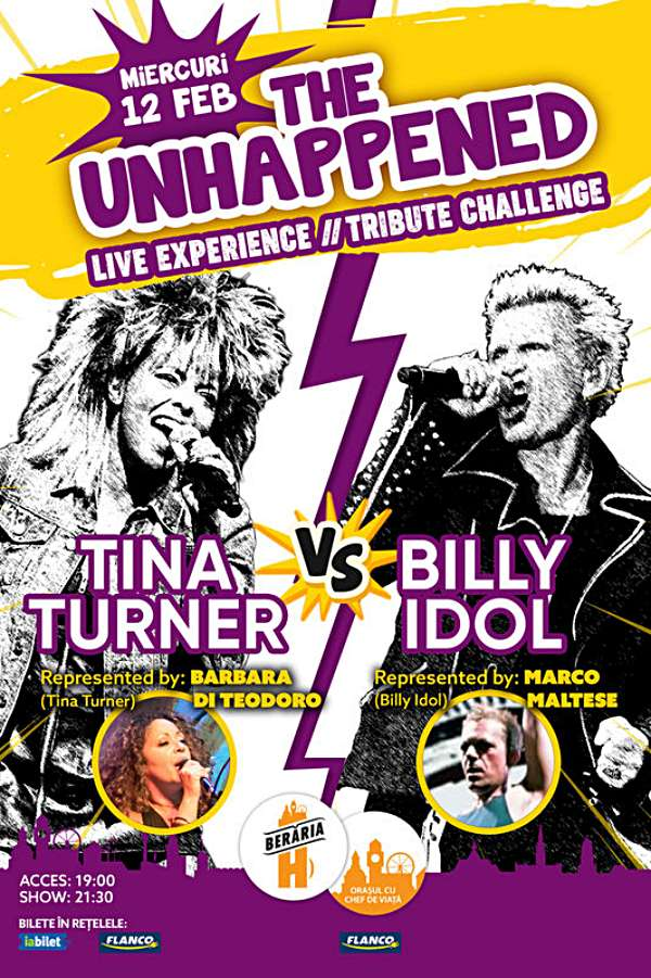 The Unhappened: Tina Turner vs. Billy Idol la Berăria H