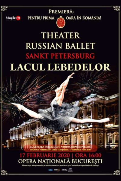 Poster eveniment Theatre Russian Ballet - Lacul Lebedelor