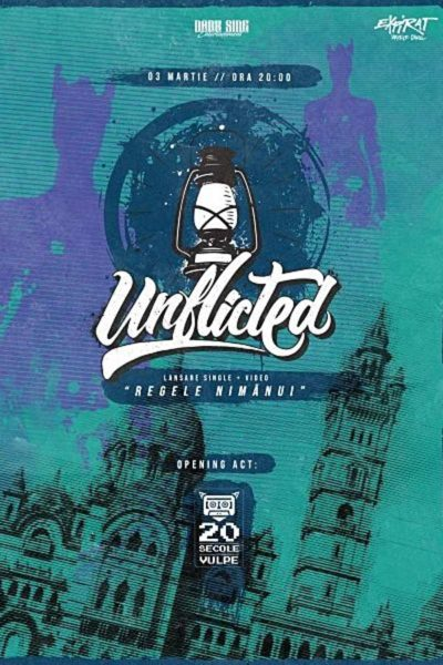 Poster eveniment Unflicted - lansare single