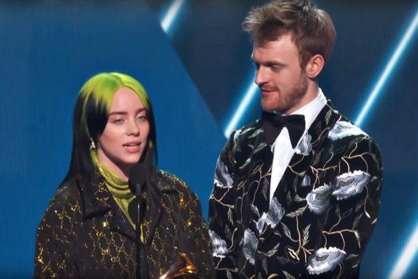 Billie Eilish și Finneas la Premiile Grammy 2020