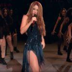 Shakira cântând la Cupa Devis în Madrid, 2019 (Screenshot)