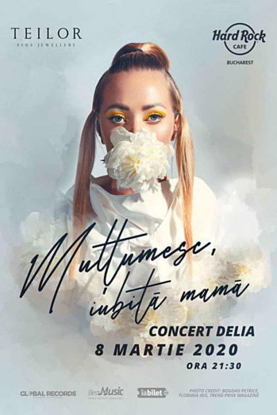 Poster eveniment Delia: Mulțumesc, iubită mamă