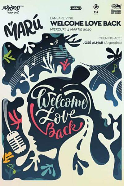 "Poster eveniment Marú - lansare vinil \""Welcome Love Back\"""