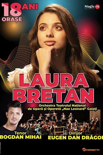 Poster eveniment Turneu aniversar Laura Bretan
