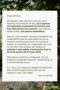 Jazz in the Park 2020