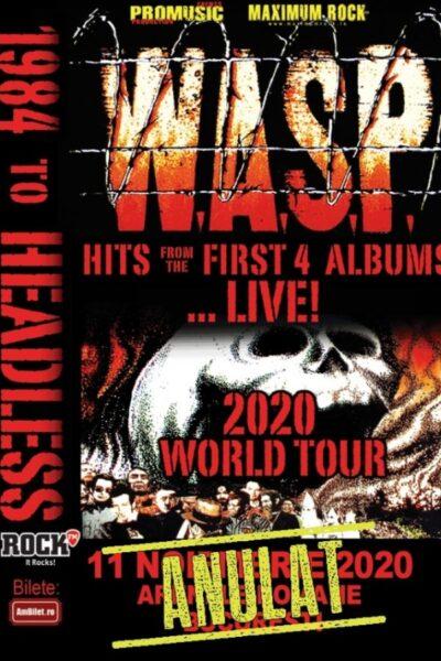 Poster eveniment W.A.S.P.