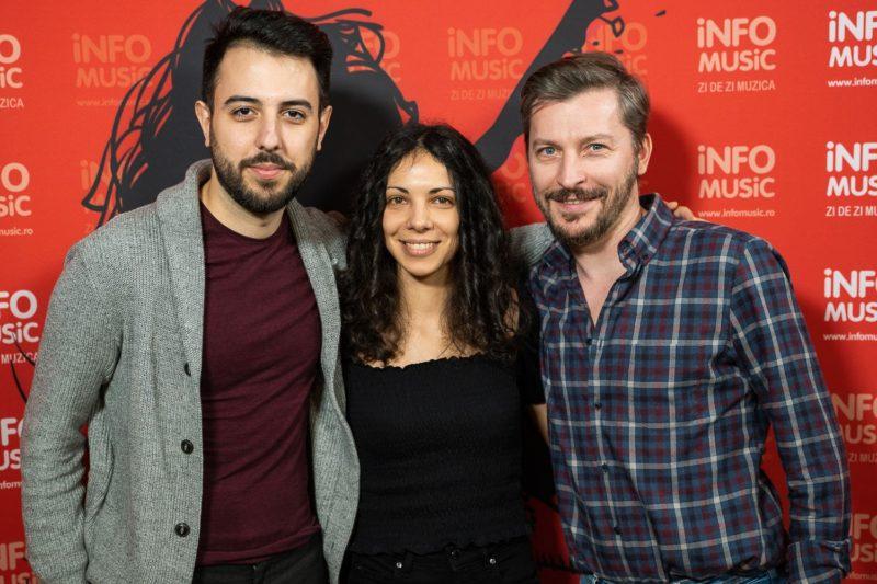Andrei Zamfir, Doru Trăscău și Raluca Chirilă @InfoMusic, februarie 2020