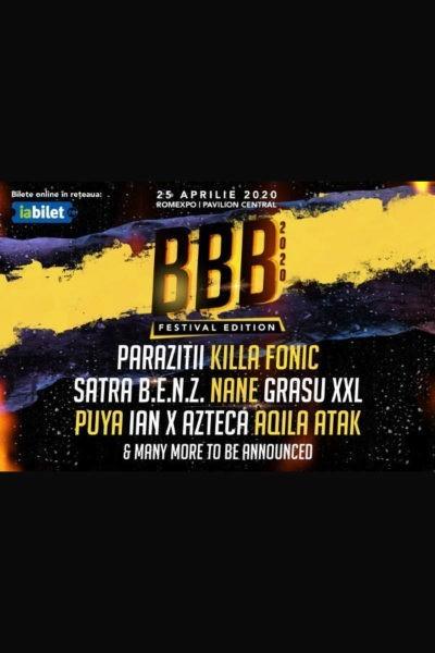 Poster eveniment B.B.B. Festival 2020