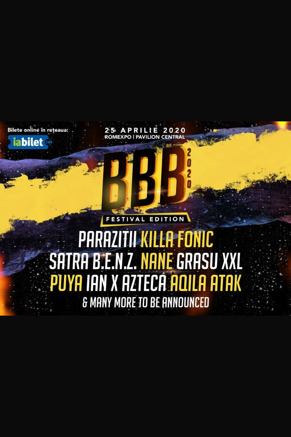 B.B.B. Festival 2020 la Romexpo