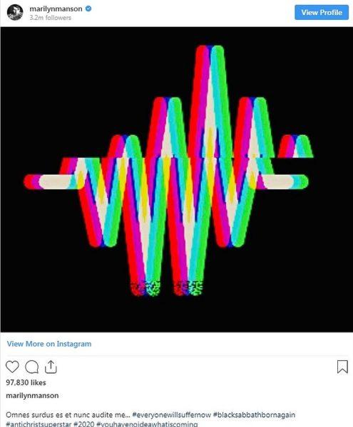 teaser Marilyn Manson album nou 2020