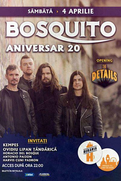 Poster eveniment Bosquito 20 - concert aniversar