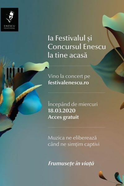 Poster eveniment Festivalul George Enescu 2020 - ONLINE