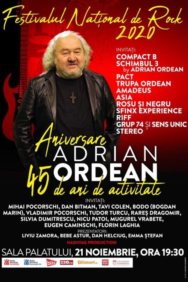 Festivalul Național de Rock 2020 - Adrian Ordean la Sala Palatului