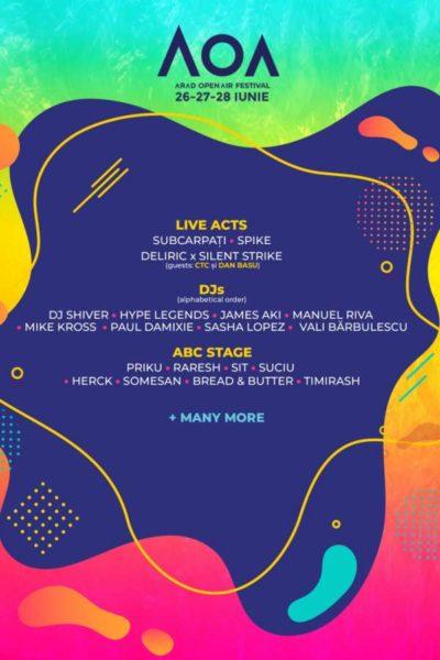 Poster eveniment Arad Open Air Festival 2020