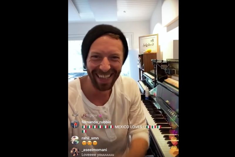 Chris Martin #TogetherAtHome