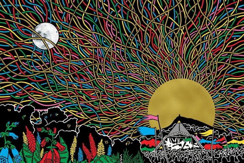 Glastonbury (artwork realizat de Stanley Donwood)
