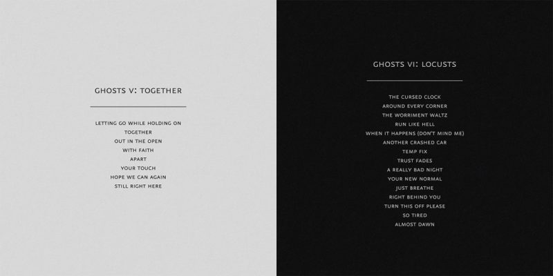 Coperte albume Nine Inch Nails Ghosts V Ghosts VI